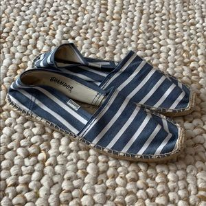 SOLUDOS Striped Espadrille Flats Size 9 NEW